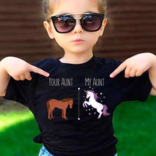 DERMSPE Hot Sale Brand Kids Girl Boy Clothing Children Cute Cartoon Your Aunt My Aunt UnicornTops Kids Baby T-shit Suit scott w my aunt margaret s mirror