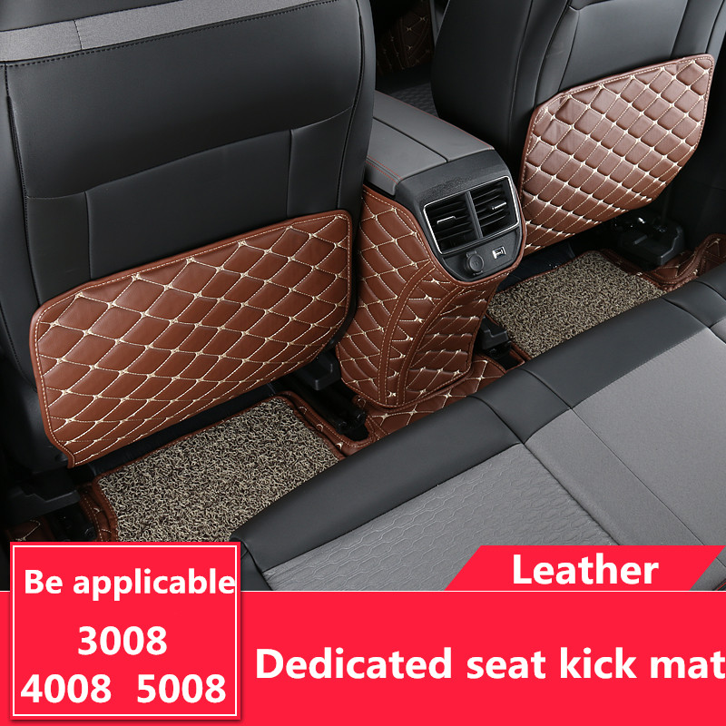 Car Seat Kick Pad Seat Back Cover Back Protection Anti Abrasion Pad Anti Step Dirty Mat For Peugeot 3008 5008 2017 2018 2019 High Safety