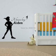 Personalized Classic Cartoon A Brave Boy Custom Made Any Boys Name Wall Decor Stickers for Kids Room