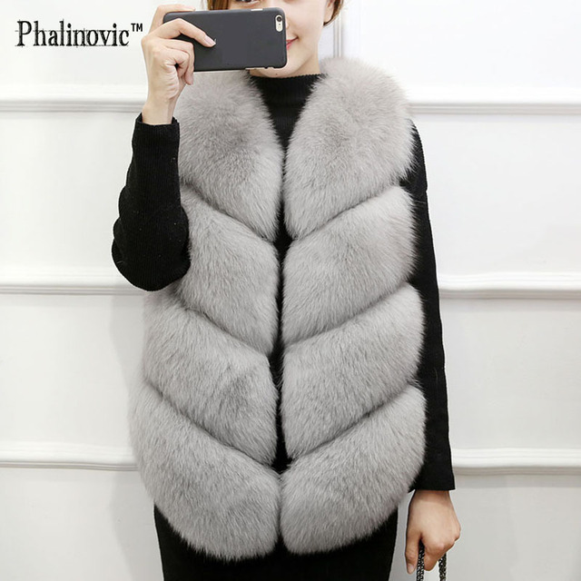 e8191233bd Phalinovic 2017 Women Faux Fur Vest Winter Autumn Thick Body Warmer Female  Sleeveless Jacket Lady Fashion Waistcoat Veste