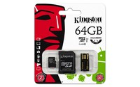 Kingston Technology Mobility kit / Multi Kit 64GB, 64 GB, MicroSDXC, Class 10, UHS, Black