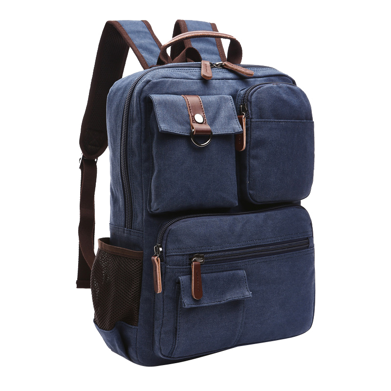 High Quality Canvas Men Backpacks Multifunctional Shoulder Bags Large Capacity Travel Mochila Male Haversack Carteira Masculina