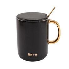 Nordic Simple Breakfast milk cup China Ceramic mug Creative Coffee Mug with lid spoon couples A Pair tea cups Free Shipping