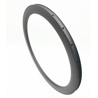 bicycle rim 60x23mm clincher disc With brake side 700c carbon rim 490g UD 3K Single circle road carbon rims 24 28 32H
