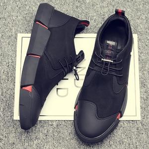 Image 3 - Zyyzym靴男性黒春の秋のメンズカジュアルシューズ革通気性ファッション英国男性靴zapatosデhombre