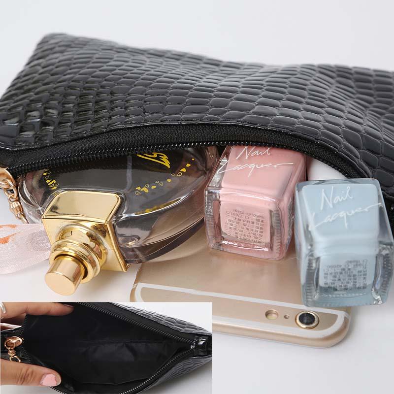 S Kadın Timsah Desen Messenger Çanta Tasarımcısı Debriyaj Moda - Çanta - Fotoğraf 6