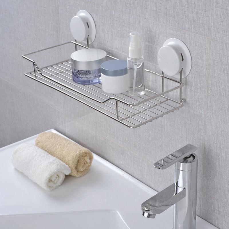 Étagère salle de bain douche shampooing savon cosmétique étagères salle de bain cuisine rangement organisateur acier inoxydable Caddy Rack ventouse titulaire