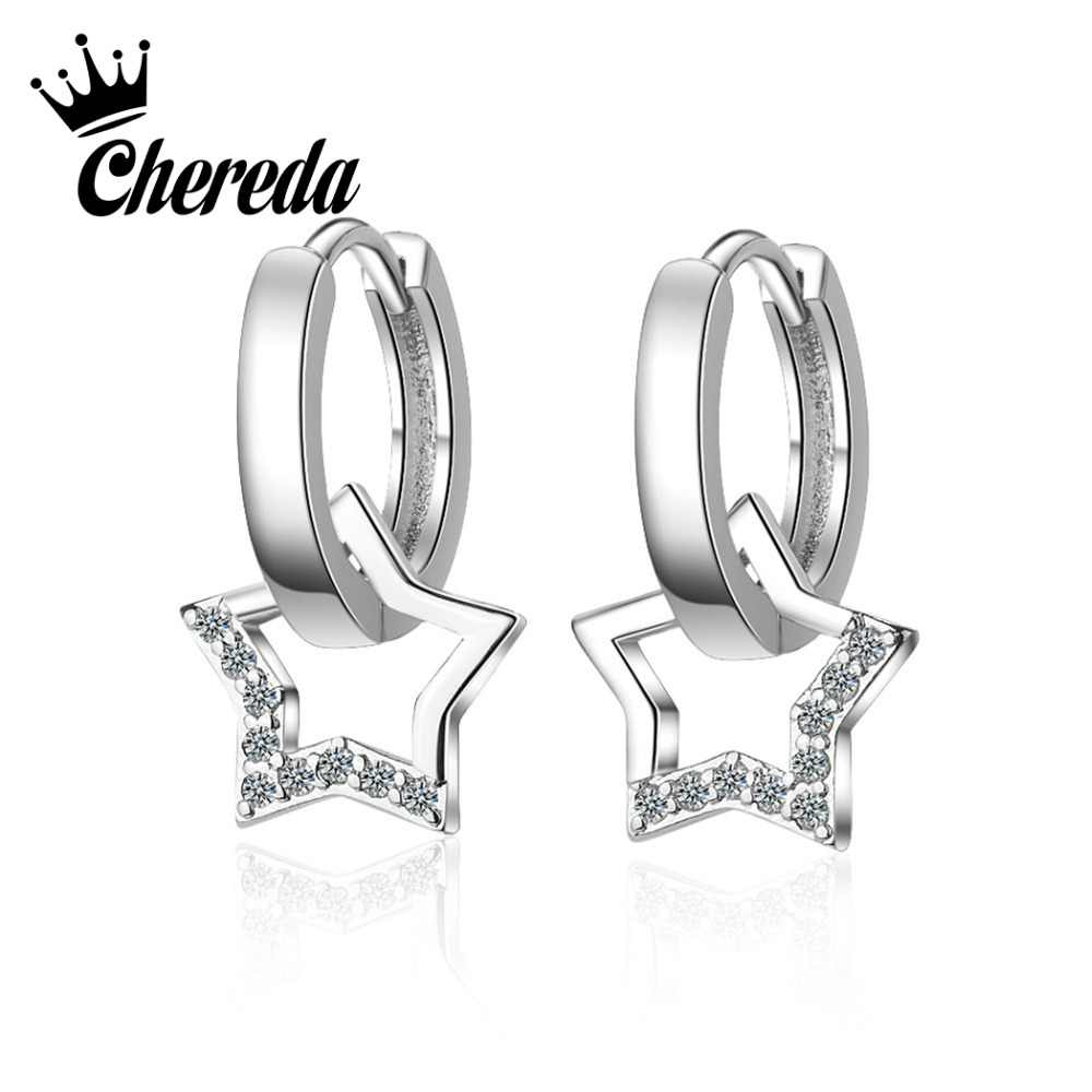 Chereda Star Drop Earring   Vintage Hollow Short Dangle Earrings Statement Personality Jewelry