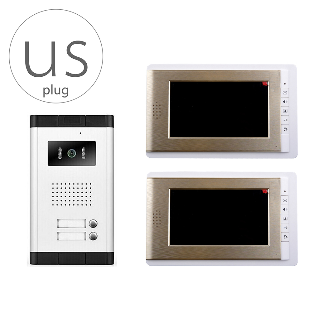 V70C-520-2 Video Doorbell Phone Video Intercom Monitor Door Phone Home Security LCD HD Wired for House Office Apartment kivos video intercom monitor 4 3 inch door phone home security color tft lcd hd wired for house office apartment