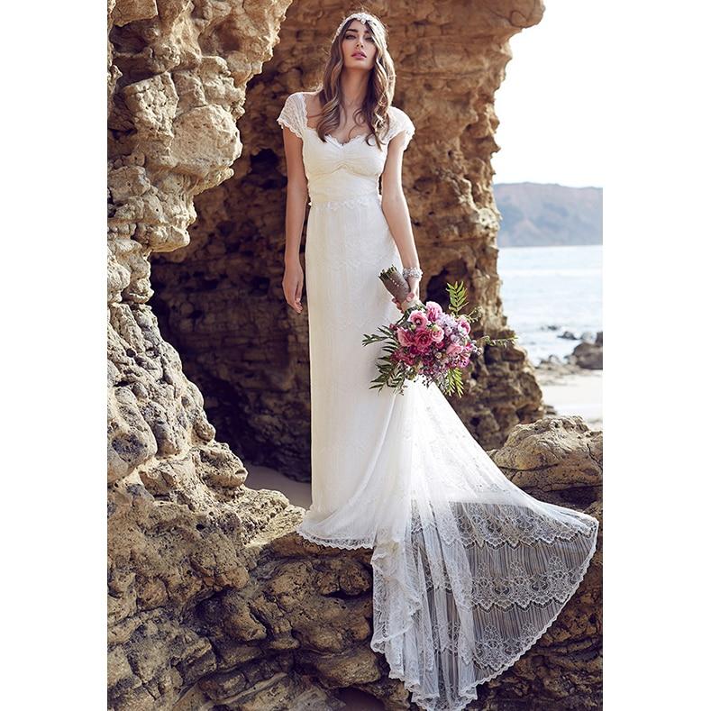 Aliexpress.com : Buy 2017 Anna Lace Beach Wedding Dresses ...