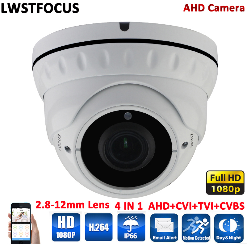 Manually Varifocal Lens 3MP 2.8MM-12MM AHD Camera Full HD 1080P AHDH Camera Outdoor Dome Security Surveillance Camera AHD 1080P sony imx322 ahd camera ahdh 1080p full hd cctv surveillance security camera osd button