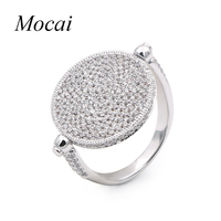 Simple Modern Full Zircon Round Ring Brand Statement Necklace Siamese Conjoined Bracelet For Women Black White