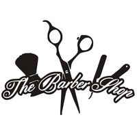 The Barber Shop Wall Stickers Creative Removable Vinyl Wall Decals Hairdressing Barber Tools Sticker Wall Decor
