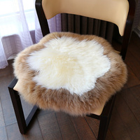 whole white 100% real authentic sheepskin seat cushion Modern Nordic Design
