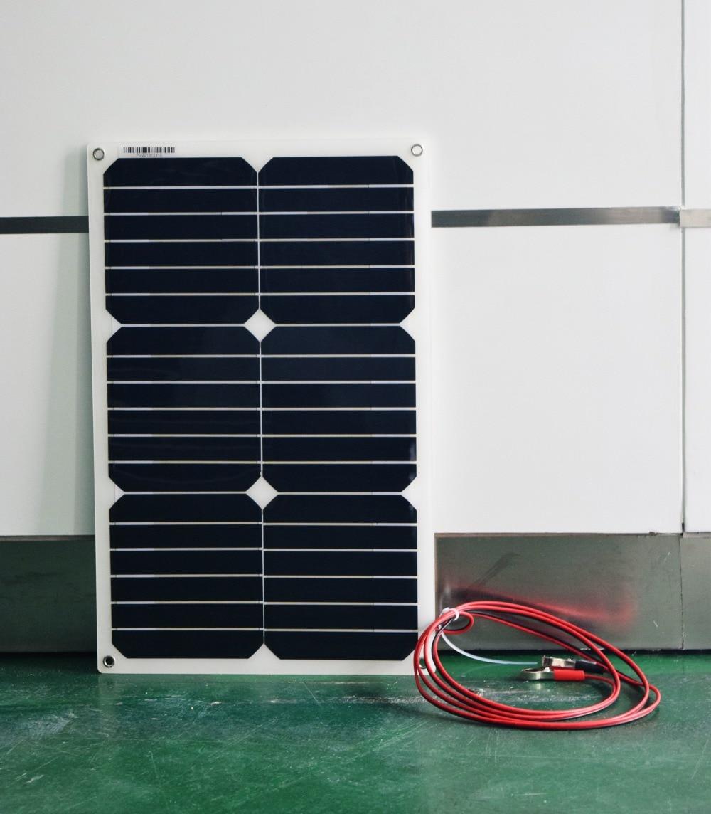 Boguang1pcs 18w flexible solar panel  cell module forback junction box  car/yacht/Rv/LED light  12v battery charge