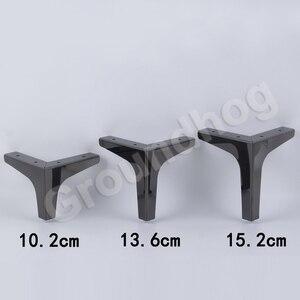 Image 2 - 4Pcs גובה 10.2/13.6/15.2/16.8CM ספה כיסא רגליים ארון ארון ריהוט רגל רגליים רגליים עם ברגים