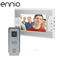 ENNIO SY812ML11 7inch HD Color Video Doorphone Door Entry Intercom Systems 800TVL Outdoor Doorbell Camera+ 1 LCD Mointor