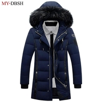 2017 New Style Long Thicken Winter Down Jackets Men S Brand Clothing Warm Duck Down Parkas