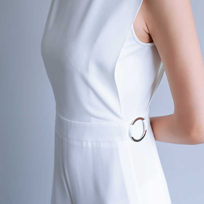 2019 летний женский размер, элегантный свободный спортивный костюм, брюки, женские повседневные длинные штаны, комбинезоны белого и черного цвета