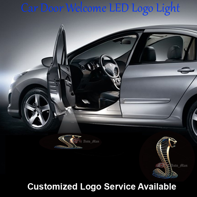 2x Wired Car Door Welcome Step Courtesy Laser Projection 3D Cobra Logo Ghost Shadow Puddle LED Light #C1014