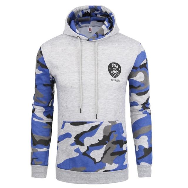 2016 военный камуфляж моды бренд толстовки с длинным рукавом Пуловеры толстовки мужская одежда хип-хоп мужчины с капюшоном