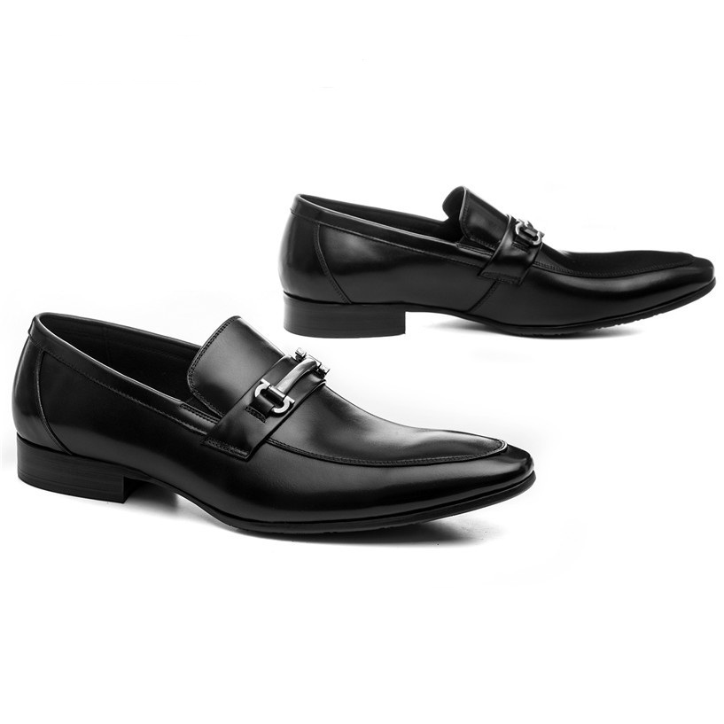 2a2ed108c266c2 Fashion Black   brown tan loafers shoes mens dress shoes genuine leather  wedding shoes mens business shoes with buckle - aliexpress.com - imall.com