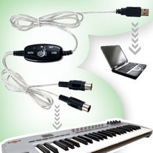 HOT!MIDI USB IN-OUT Interface Cable Cord Line Converter PC to Music Keyboard Adapter CS