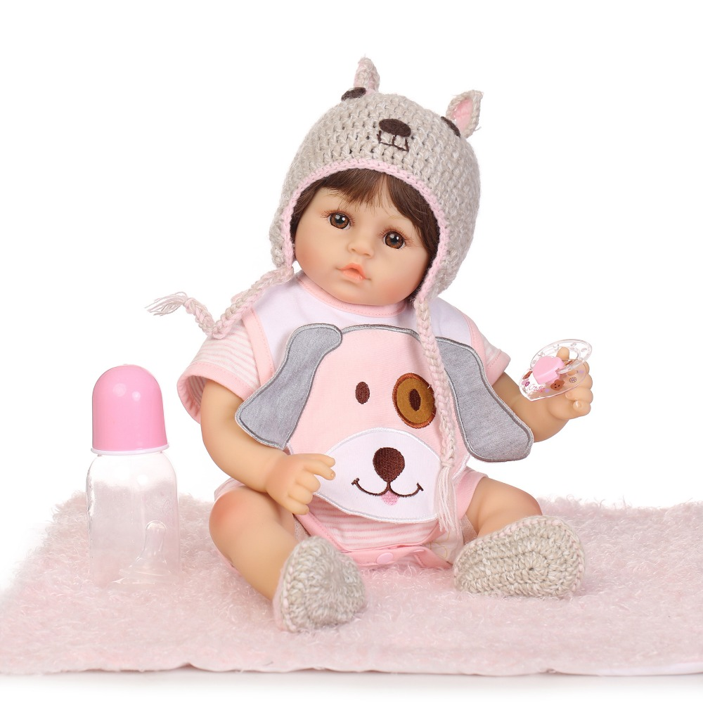 NPKCOLLECTION Alive Girls Reborn Dolls Handmade Look Real Baby Doll Soft Vinyl Silicone Newborn Dolls Toys for Children Gifts