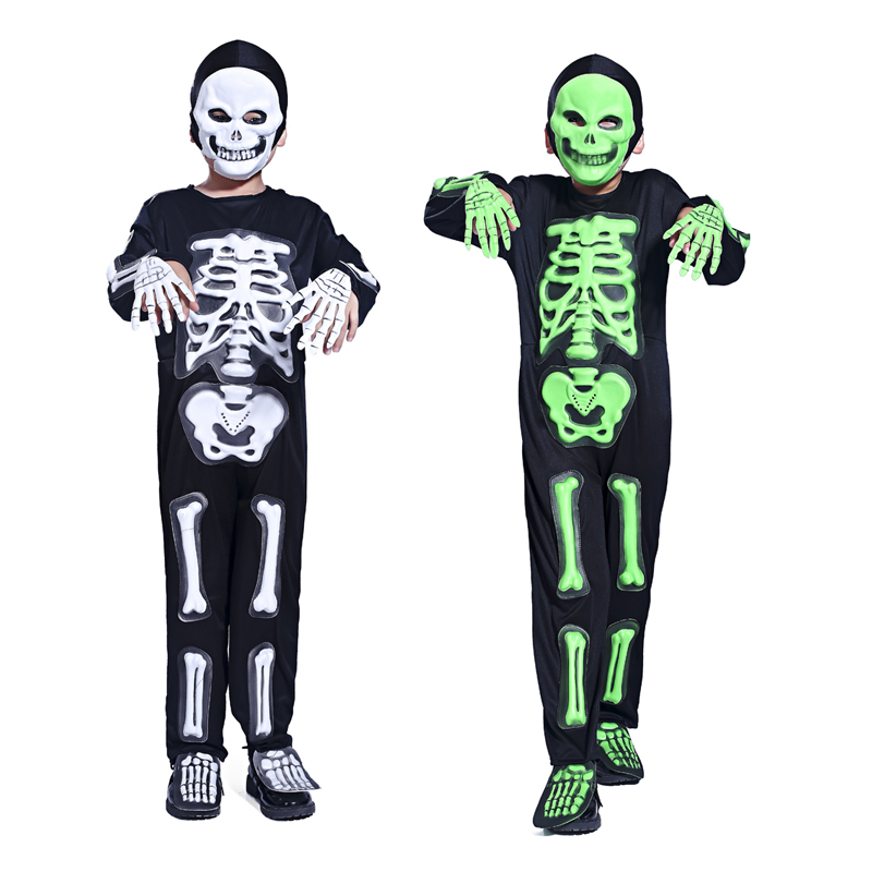 halloween costume party dress skeleton ghost clothing masquerade party boys funny skeleton clothes clothes role playing - Skeleton Halloween Costume For Kids