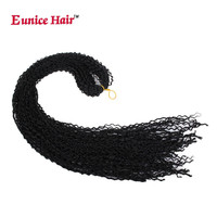 28 Inches Crotchet Box Braids Hair Extensions #1B/#27/99j Blonde Brown Burgundy Eunice Crochet Braiding Kanekalon Synthetic Hair