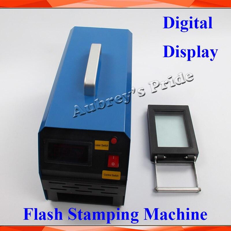 2 3 Exposure Lamps Digital Display Photosensitive Portrait Flash Stamp Machine Self inking Stamping Making Sealer