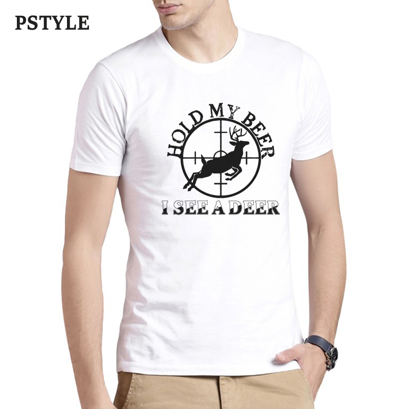 4a3320ab Detail Feedback Questions about Pstyle christmas design t shirt for men tshirt  hold my beer i see a deer letter graphic t shirt white man tee shirts drop  ...