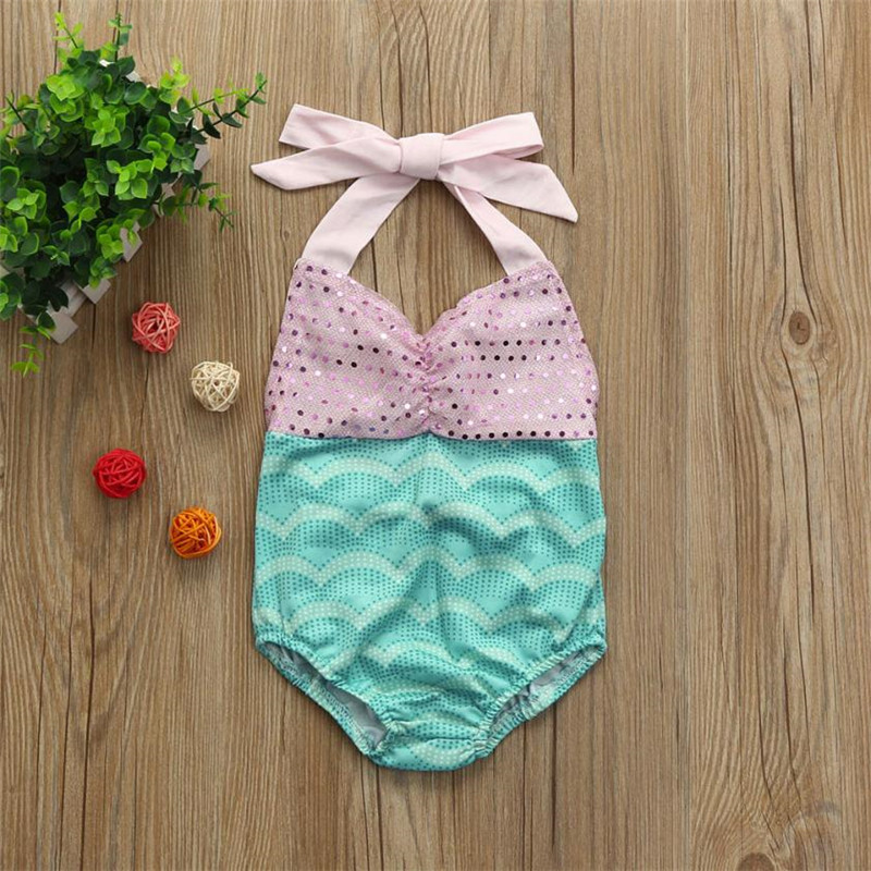 ARLONEET Baby Girl Swimwear One Piece Girl Sequin Strap Bikini Beach Swimsuits Rompers Toddler 0 to 2 Years Drop Shipping 30S611