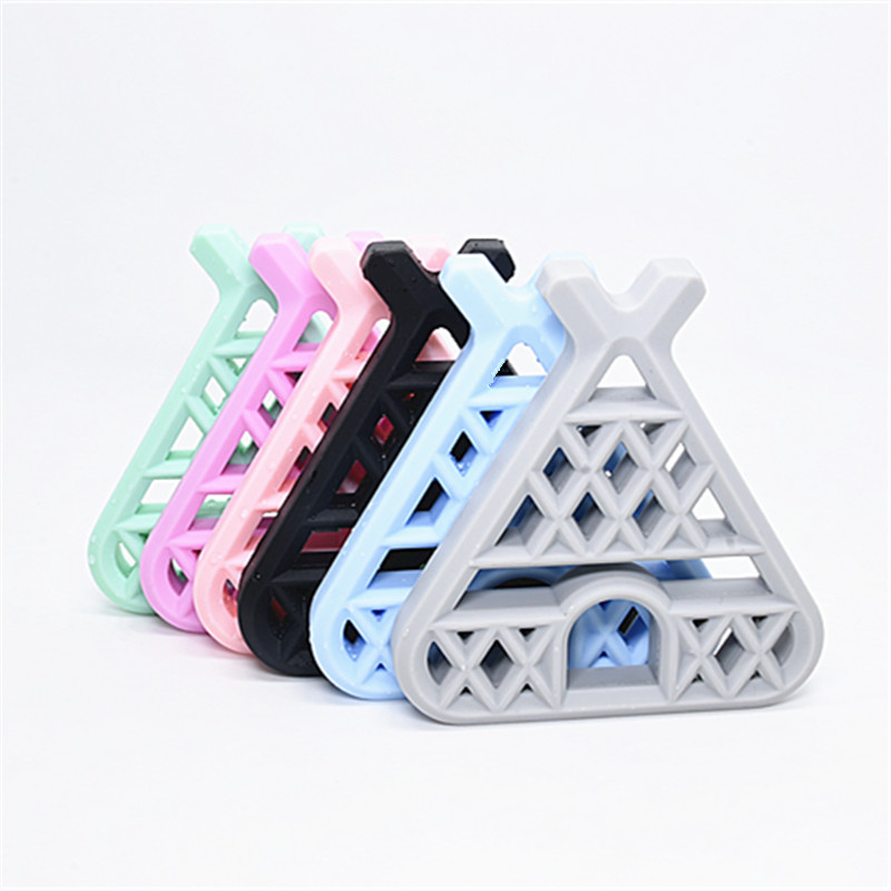 1PC BPA Free Silicone Woodland Teepee Baby Teether Nurse Gift DIY Teething Jewelry Accessories Nursing Toy Silicone Tipi Teether