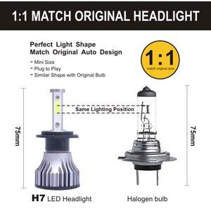 Image 5 - 2 sztuk z 4 stron, Lampy LED H1 H11 H4 LED H7 12 V światła samochodu HB4 9005 9006 9004 9007 9012 880 881 H27 H13 żarówka do reflektorów samochodowych 6500 K