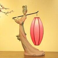 Современный Настольный китайский свет Ретро классическое искусство лампы творческий спальня гостиная декоративное освещение, настольные