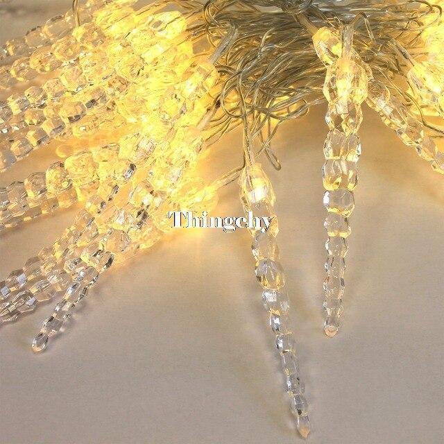 10М 50LED кристал сосулька рядка світло - Святкове освітлення - фото 2