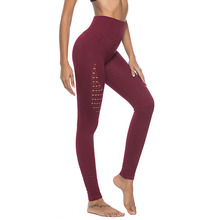 New hollow elastic high waist hip fitness yoga pants sports tight sexy fashion leggings women