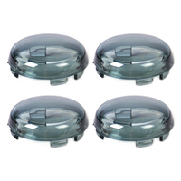 Beler 4pcs Turn Signal Light Indicator Smoke Lens Cover Fit For Harley Dyna Softail Sportster 1200
