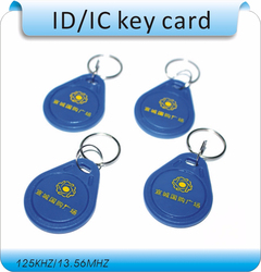 Free shipping 100pcs/Lot include printing logo 13.56MHZ  RFID Tag Proximity Smart ICToken Tag Key Ring /access control card