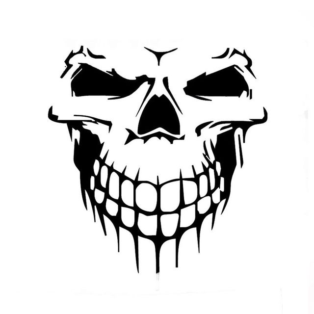 Terrible shape skull skeleton funny car sticker for suv door kayak canoe car cover vinyl decal
