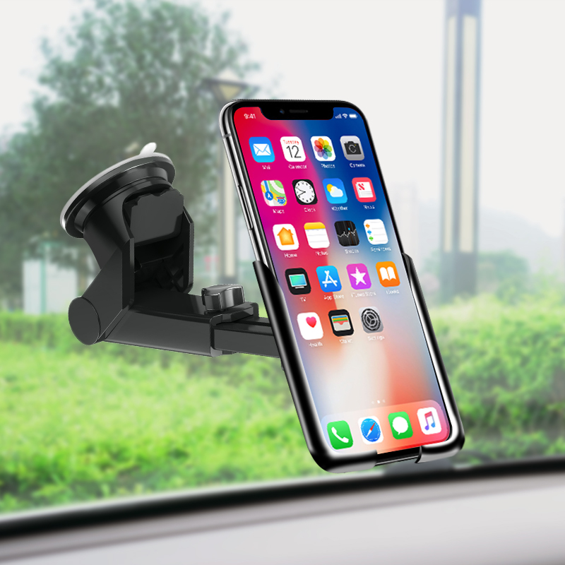 Image 5 - Voulttom Car Phone holder in car Windshield Dashboard for iPhone X XS Max Samsung Huawei Auto lock Gravity Mobile Phone Holder-in Phone Holders & Stands from Cellphones & Telecommunications