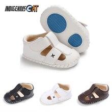 Summer Newborn Baby Boys Shoes PU Leather Kids First Walkers Soft Soled Infant Prewalker Moccasin 0-18 Months