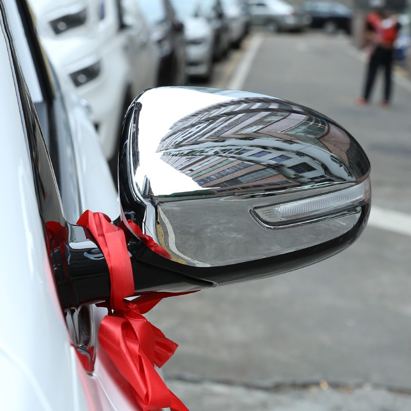 MONTFORD ABS <font><b>Chrome</b></font> Side Rearview Door <font><b>Mirror</b></font> Cover Moldings Decoration 2Pcs/setCar Styling For <font><b>KIA</b></font> Sportage KX-5 KX5 2016 2017 image