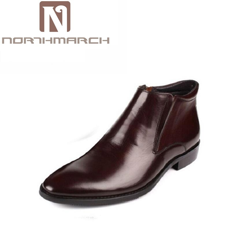 NORTHMARCH Luxury Brand New Style Men Boots Casual Winter Leather Boots Men Martin Chelsea Boots Men Pointed Toe Autumn Shoes mulinsen new 2017 autumn winter men