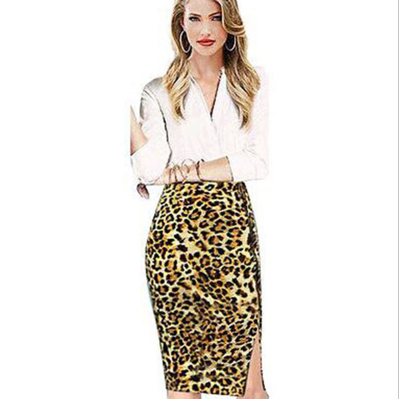 Image result for Model leopard skirt