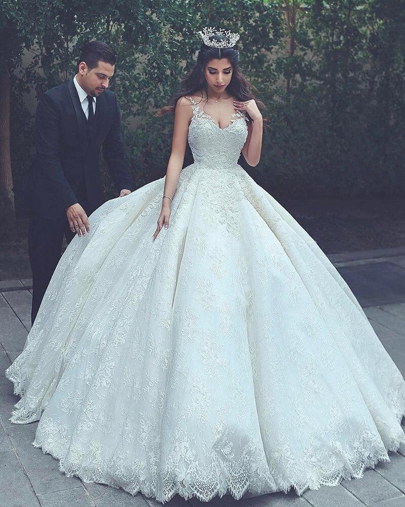 Vestido De Novia Sexy Elegant Vintage Sweetheart Lace Luxury Ball Gown Wedding Dresses In Turkey Plus Size Bride Wedding Gown
