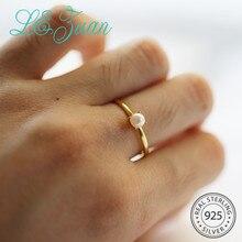 L& zuan позолоченное классическое жемчужное кольцо в виде ракушки для женщин, 925 пробы, серебряные Регулируемые кольца для горячих аксессуаров, рождественские подарки
