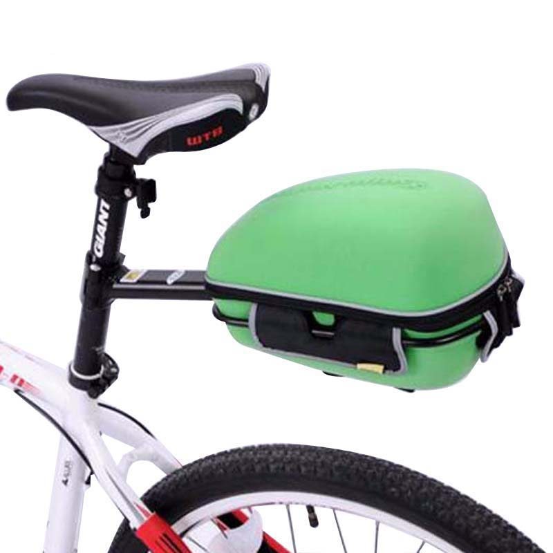 New Cycling Bicycle Frame Hard Shell Pack Rear Bag with Rain Cover Bike Rack