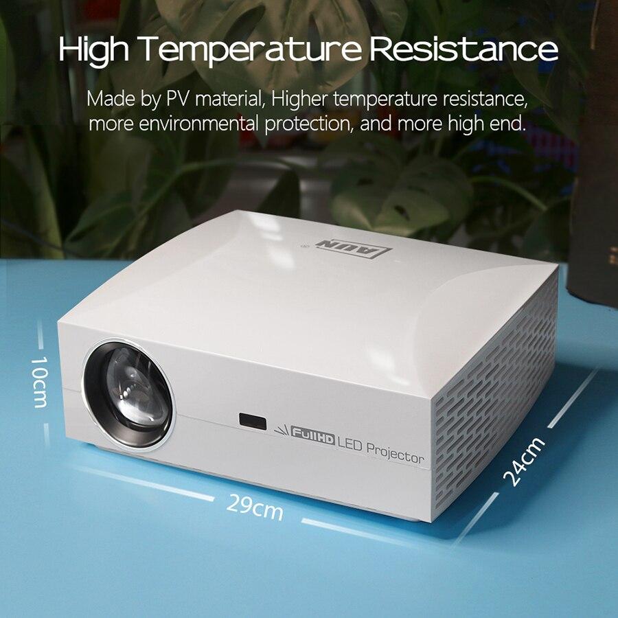 AUN projecteur Full HD F30UP, 1920x1080 P. Android 6.0 (2G + 16G) WIFI, MINI projecteur LED pour Home Cinema, Support vidéo 4K - 5
